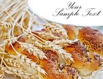 Schließen Sie oben vom Weizen- und Brotlaib Lizenzfreie Stockfotos