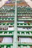 Schließen Sie oben von alten Wohnungen Hong Kongs, Asien Lizenzfreie Stockfotografie