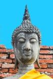 Schließen Sie oben von Buddha-Kopf Wat Yai Chaimongkhon, Ayuthaya, Thailand Lizenzfreie Stockfotos