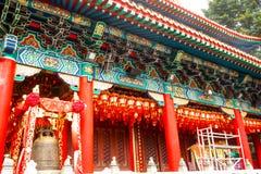 Schließen Sie oben von Decorate Sik Sik Yuen Wong Tai Sin Temple in Hong Kon lizenzfreies stockfoto