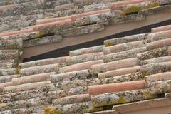 Schließen Sie oben von den alten Dachplatten Lizenzfreies Stockbild