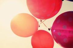 Schließen Sie oben von den Ballonen Stockbilder