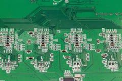 Schließen Sie oben von den elektronischen Bauelementen auf dem Motherboard Lizenzfreies Stockbild