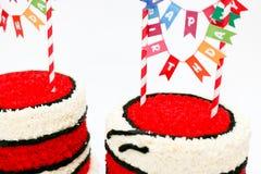 Schließen Sie oben von den Geburtstagskuchen Stockbild