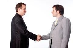 Schließen Sie oben von den Geschäftsmännern, die Hände rütteln Lizenzfreie Stockbilder