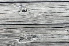 Schließen Sie oben von den hölzernen Planken auf einem Dock Stockfotografie