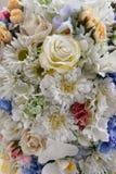 Schließen Sie oben von den künstlichen Blumen Stockbild