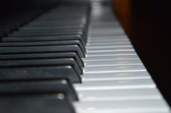 Schließen Sie oben von den Klaviertasten Lizenzfreies Stockfoto