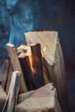 Schließen Sie oben von den Lagerfeuer-Flammen Lizenzfreie Stockfotos