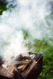 Schließen Sie oben von den Lagerfeuer-Flammen Lizenzfreie Stockbilder