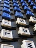 Schließen Sie oben von den Linotype-Maschinen-Schlüsseln Lizenzfreie Stockfotografie