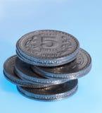 Schließen Sie oben von den Münzen Stockfoto