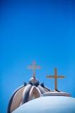 Schließen Sie oben von den orthodoxen Kreuzen Stockfotos