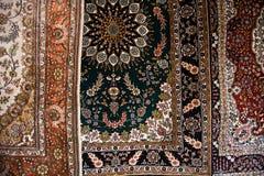 Schließen Sie oben von den persischen Teppichen Stockfotos