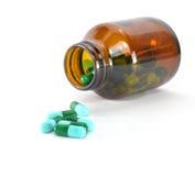 Schließen Sie oben von den Pillen stockbilder