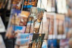 Schließen Sie oben von den Postkarten von Florenz stockfoto
