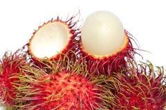 Schließen Sie oben von den Rambutanfrüchten lizenzfreie stockbilder