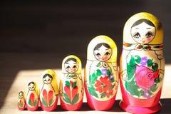 Schließen Sie oben von den russischen Puppen Lizenzfreies Stockfoto