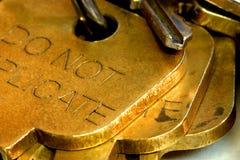 Schließen Sie oben von den Schlüsseln Lizenzfreies Stockbild
