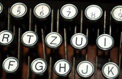 Schließen Sie oben von den Schreibmaschinentasten Stockbilder