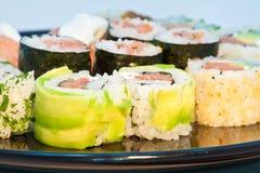 Schließen Sie oben von den Sushi Lizenzfreies Stockbild