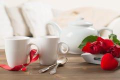 Schließen Sie oben von den Teetassen Lizenzfreies Stockbild