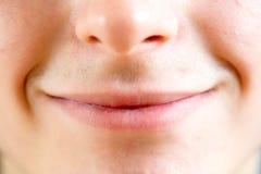 Schließen Sie oben von den Teilen eines menschlichen Gesichtes Stockbilder
