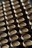 Schließen Sie oben von den Weinleseschreibmaschinentasten Stockfotografie