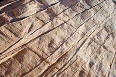 Schließen Sie oben von den Zeilen im Felsen Lizenzfreie Stockbilder