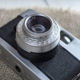 Schließen Sie oben von der alten Kamera Lizenzfreies Stockfoto
