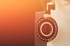 Schließen Sie oben von der alten 8mm Film-Projektorlinse Lizenzfreies Stockfoto