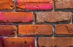 Schließen Sie oben von der Backsteinmauer Lizenzfreies Stockfoto