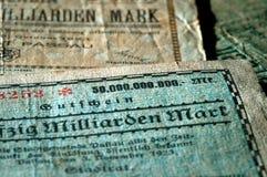 Schließen Sie oben von der Banknote Stockfoto
