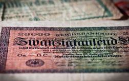 Schließen Sie oben von der Banknote Stockbild