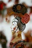 Schließen Sie oben von der chinesischen Schatten-Marionette Stockfotos