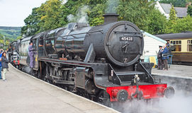 Schließen Sie oben von der Dampflokomotive Stockfotografie