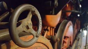 Schließen Sie oben von der Dampflokomotive Stockbild