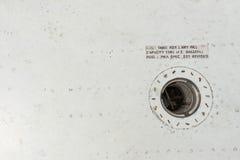 Schließen Sie oben von der Flugzeugschiffbruch-Flügelkomponente Lizenzfreie Stockfotos