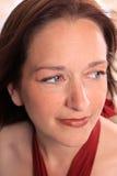 Schließen Sie oben von der Frau in ihren frühen Vierzigern Lizenzfreies Stockbild