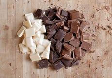 Schließen Sie oben von der handgemachten Schokolade der Qualitäts Stockfoto