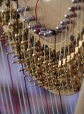 Schließen Sie oben von der Harfe Lizenzfreies Stockbild