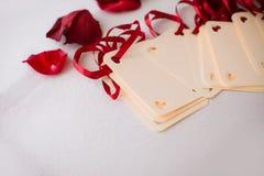 Schließen Sie oben von der Hochzeitsgrußkarte Lizenzfreies Stockbild