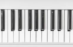 Schließen Sie oben von der Klaviertastatur Lizenzfreies Stockbild