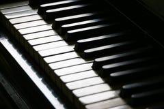 Schließen Sie oben von der Klaviertastatur Stockfotografie
