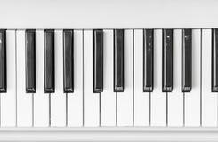 Schließen Sie oben von der Klaviertastatur Stockfotos