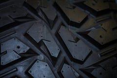 Schließen Sie oben von der LKW-Reifenbeschaffenheit Stockfotos