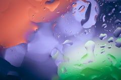 Schließen Sie oben von der Luftblase mit buntem Hintergrund Stockfotos