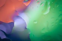 Schließen Sie oben von der Luftblase mit buntem Hintergrund Lizenzfreie Stockfotos