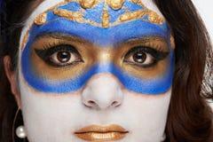 Schließen Sie oben von der Maske auf Frauen Lizenzfreies Stockbild