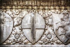 Schließen Sie oben von der niedrigen Entlastung in Santa Croce Stockbild